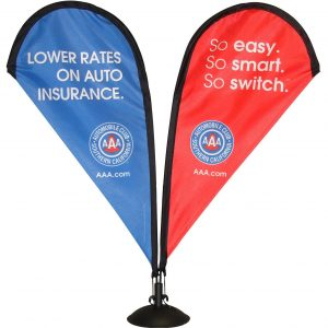 Table Top Double Sided Teardrop Banner—Stand_28925715